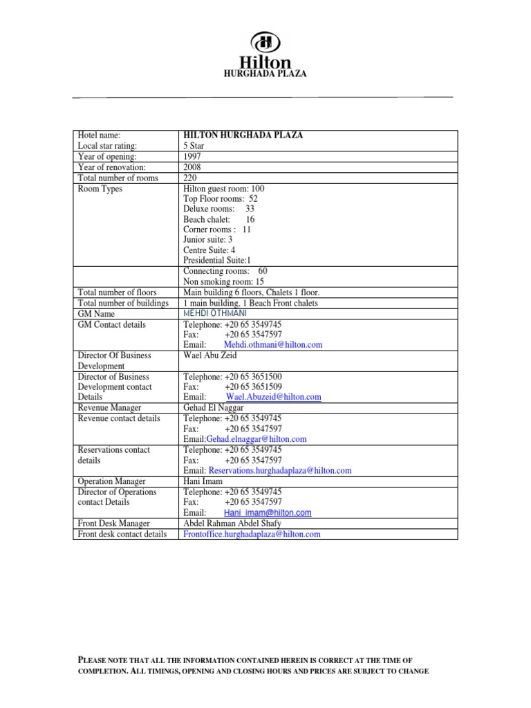31 Hilton Plaza Fact Sheet Updated 1 | Drink | Bar