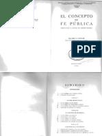 EL Concepto de Fe Publica - Couture