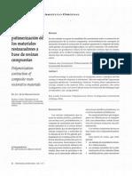 La Contraccion de Polimerizacion de Los Materiales Restaura