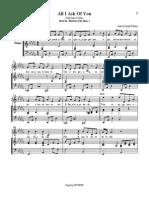 Phantom All i Ask of You Sheet Music