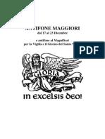 Antifone Maggiori - Antifone O