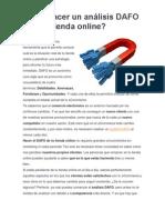 ANALISIS FODA Comercio Electronico Amazon Mercadolibre