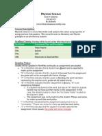 physical science syllabus 2014-2015