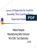 Quality & Inspection for Lead-free Assembly