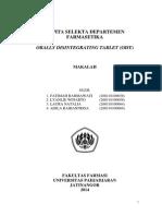 Kapita Selekta Departemen Farmasetika