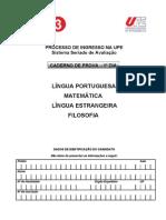 Caderno de Provas Do Primeiro Dia de Provas Do SSA 3 Da UPE - Dia 10-11-2013