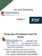 Estimation and Sampling Distributions