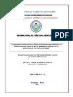 Informe Final de Práctica Profesional Becerra Ramos