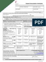 IIT Immunization Form 02-07-2012