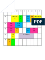 Sem 4 Timetable