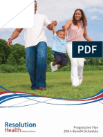 Progressive Flex Benefit Schedule