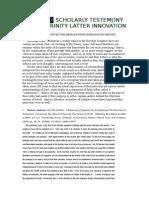 Appindex Scholarly Testemony of Trinity Latter Innovation