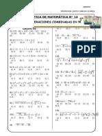 PRÁCTICA N° 14 - 1° - OPERACIONES COMBINADAS  EN N