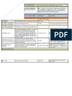 Uw-l Joint Planning & Budget - Annual Planning Calendar