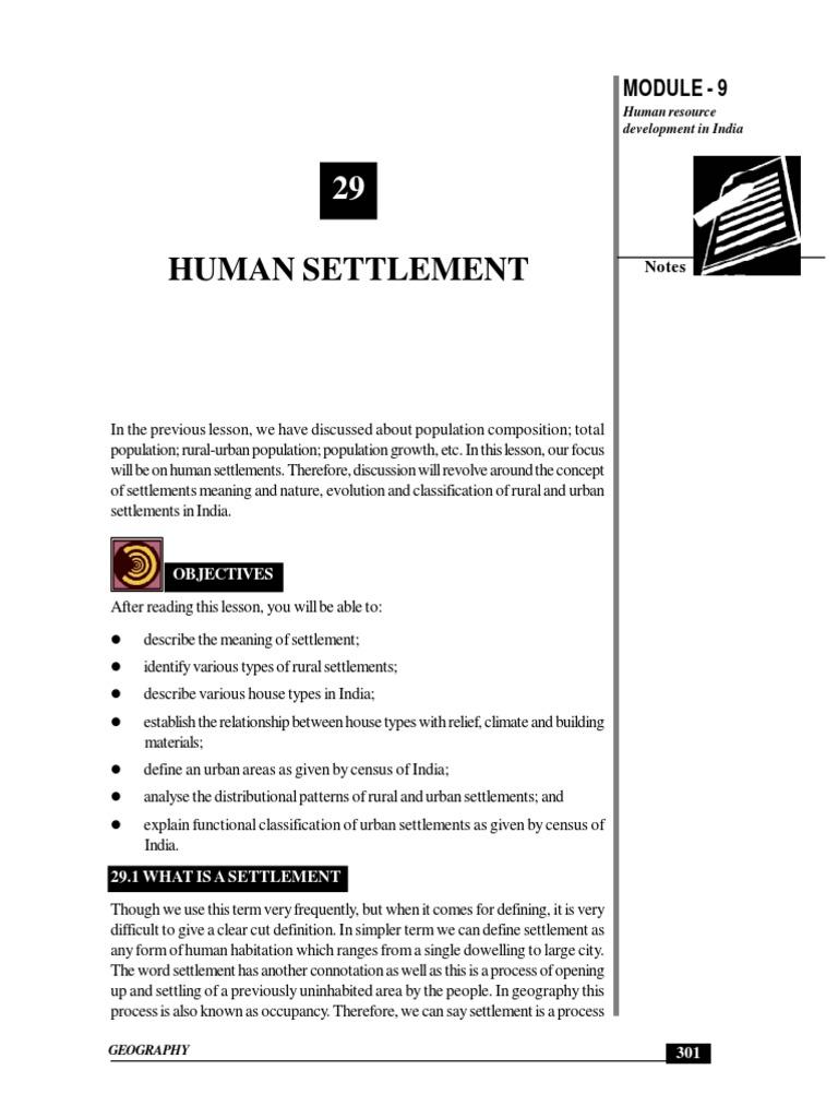 Human Settlement | Building Materials | Urban Area