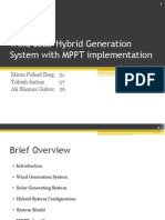 Wind Solar Hybrid Generation System With MPPT Implementation