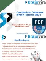 Case Study for Dotnetnuke Intranet Portal for MNC's