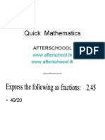 quick maths2