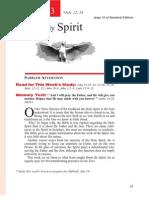 3rd Quarter 2014 Lesson 3 the Holy Spirit Teachers' Edition