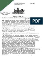 Original Australian Constitution With Seal