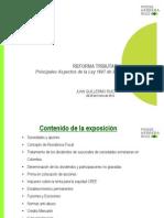 REFORMA TRIBUTARIA Principales Aspectos de La Ley 1607 de 2012. Juan Guillermo Ruiz_20130131_023644