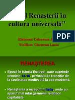 Rolul Renașterii În Cultura Universală
