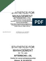 STATISTICS FOR MANAGEMENT 16  OCTOBER