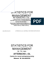 STATISTICS FOR MANAGEMENT 15 OCTOBER