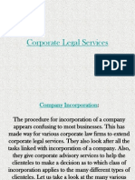 Corporate Legal Services - Accuprosys