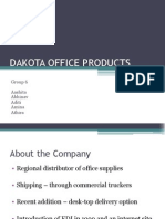 Case Analysis of Dakota Office Products