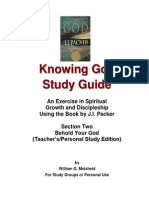Knowing God Study Guide - Section Two Teacher-Personal Edition