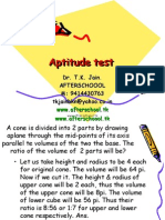 15 June aptitude test