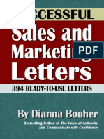 Successful Sales and Marketing Letters by Dianna Booher