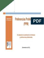 Preferencias Profesionales (Castellano)