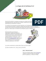 Fases y Etapas de La Defensa Civil