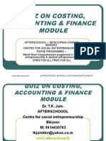 25 JULY QUIZ ON COSTING, ACCOUNTING & FINANCE MODULE