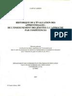 Adrien 2009 - Historique de l'Évaluation Des Apprentissages