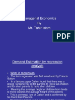 Rgression in Economics