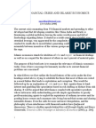 Current Financial Crisis and Islamic Economics