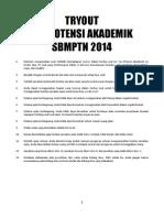 1. Tryout Tpa Sbmptn 2014