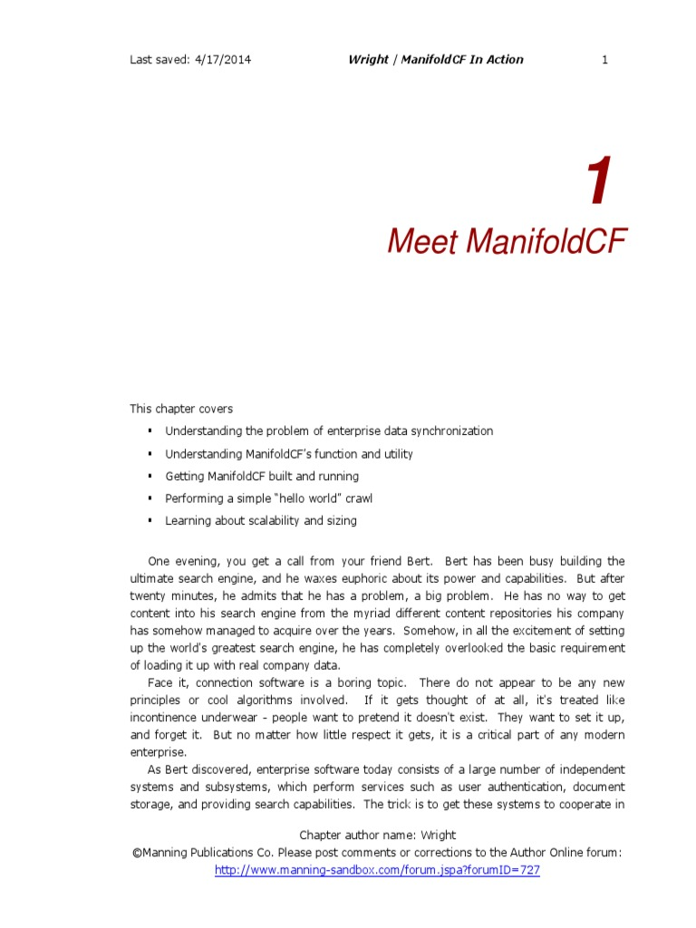 Manifoldcf In Action Pdf