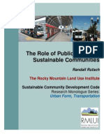 The Role of Public Transit in Sustainable Communities