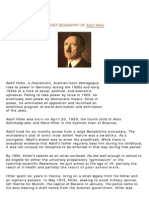 A Brief Biography of Adolf Hitler