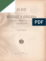 Atlante Materiale Artiglieria 1905 Tavole