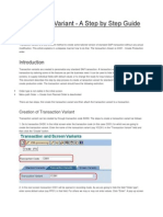 Creating Transaction Variant