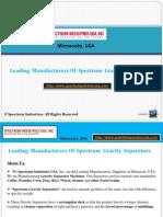 Gravity Separator Manufacturers