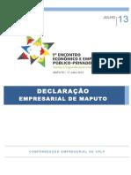declaracao empresarial de maputo - 17 julho 2013 assinada