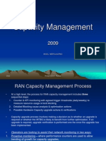 Capacity Management Traffic Model Statistics