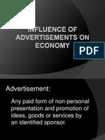 Influence of Advertisements on Economy
