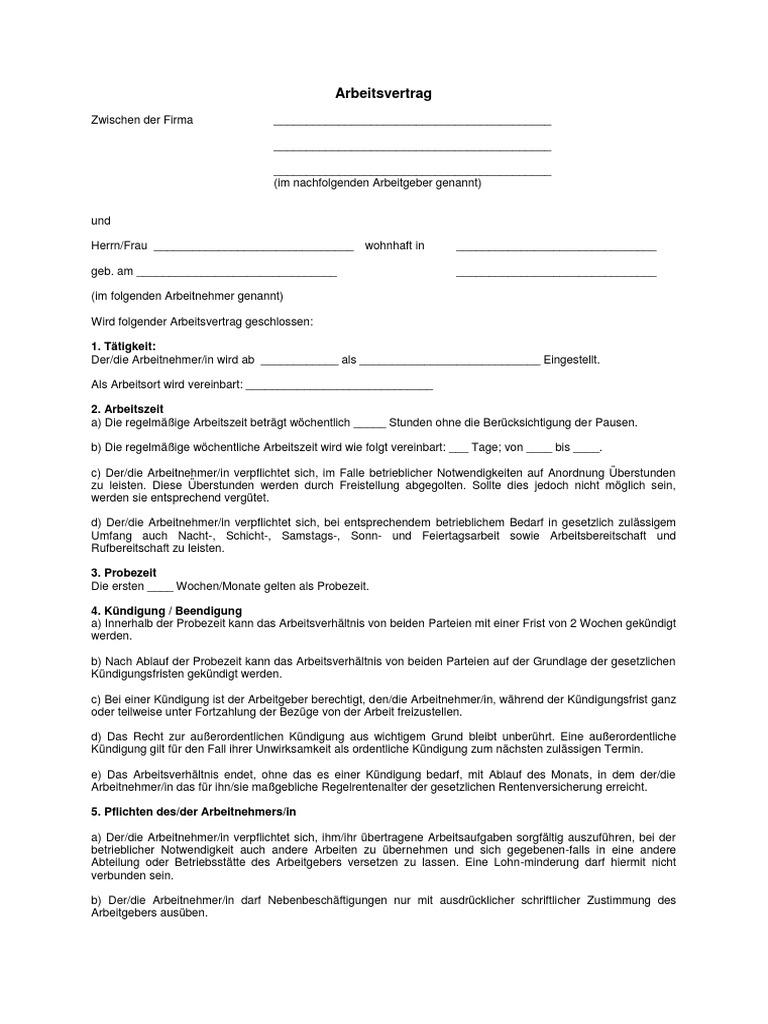 Arbeitsvertrag_Vorlage